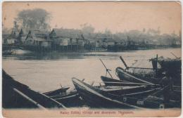 AK - Singapur - Malay Fishing Village And Shampans 1920 - Singapur