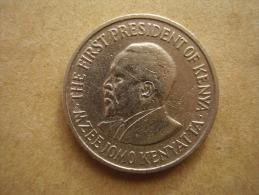 KENYA 1975  FIFTY CENTS   KENYATTA Copper-Nickel  USED COIN In  GOOD CONDITION. - Kenya