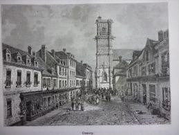 Clamecy , Gravure De Navellier Dessin De Clerget  1887 - Documenti Storici