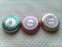 Lote 3 Chapas Kronkorken Caps Tappi Cerveza Warsteiner. Alemania - Bière