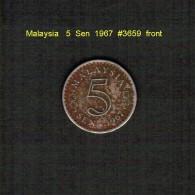 MALAYSIA    5  SEN  1967  (KM # 2) - Malaysia