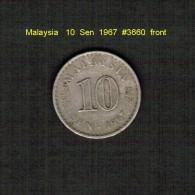 MALAYSIA    10  SEN  1967  (KM # 3) - Malaysie