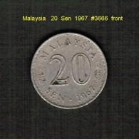 MALAYSIA    20  SEN  1967  (KM # 4) - Malaysia