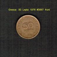 GREECE    50  LEPTA  1976  (KM # 115) - Griechenland