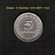 GREECE    5  DRACHMAI  1978  (KM # 118) - Griechenland