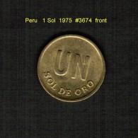 PERU    1  SOL  1975  (KM # 266.1) - Peru