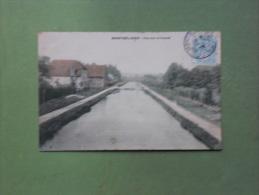 CPA DOUBS MONTBELIARD VUE SUR LE CANAL 1906EXC ETAT - Montbéliard