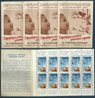 Erinophilie 5 Carnets De 10 Vignettes Contre La Tuberculose 1968-69 - Antituberculeux