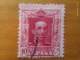 Sello España. 10 Céntimos. Rey Alfonso XIII. 1886-1931 - 1889-1931 Regno: Alfonso XIII