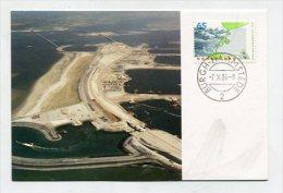 NETHERLANDS - AK 186193 MC - 1986/23 Detailkaart Met De Stormvloedkering In De Oosterschelde - Cartes-Maximum (CM)