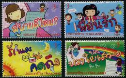 THAÏLANDE 2013 - Semaine De La Lettre écrite, Dessins D'enfants - 4val Neufs // Mnh - Thailand