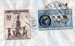 COLOMBIA 1956, Sehr Schöne Seltene 2 Fach Frankatur Auf Brief Von Medellin Nach Vienna - Colombia