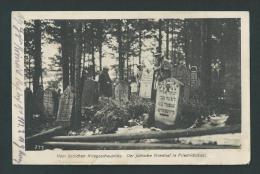 Cimetière Juif. Vom östlichen Kriegsschauplatz. Der Jüdische Friedhof In Friedrichstadt. Voyagée. Feldpost. 2 Scans. - Judaisme