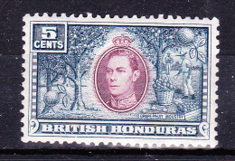 BRITISH HONDURAS  1938 , Def´s Set - Landscapes  , Y&T  #   122 - 5 C   Cv   1.00 E ,  ( 2006 ) * MH , VF - Honduras Britannico (...-1970)