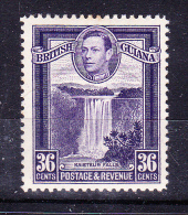 BRITISH GUIANA   1938/45  , Def´s Set - Landscapes   , Y&T  #   167 -36 C   Cv   1.85 E ,  ( 2008 ) * MH , VF - Guyana Britannica (...-1966)