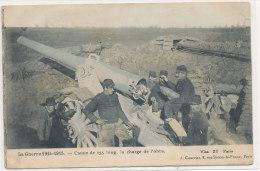 MILITARIA  ))  CANON DE 155 LONG   LA CHARGE DE L OBUS   GUERRE 1914 1915 - Matériel