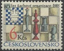 CSR 1985-2811 60A°CHESS, CZECHOSLOVAKAI, 1 X 1v, MNH - Schach
