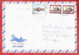 Luftpost, MiF Krokodil U.a., Koudougou Nach Bielefeld 1998 (45027) - Burkina Faso (1984-...)