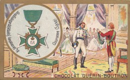 ANCIENNE IMAGE CHROMO PUB CHOCOLAT GUERIN BOUTRON ORDRE DE LA COURONNE MEDAILLE DECORATION SAXE BEAU VISUEL - Guerin Boutron