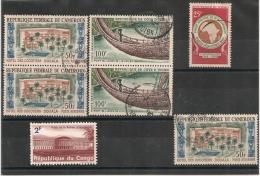 7 Timbres CAMEROUN, COTE D 'IVOIRE Et CONGO. - Autres - Afrique