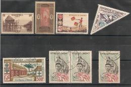 8 Timbres Du DAHOMEY Dont POSTE AERIENNE. - Benin – Dahomey (1960-...)