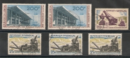 6 Timbres Du SENEGAL  Dont POSTE AERIENNE. - Senegal (1960-...)