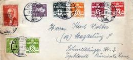 DÄNEMARK 1948, 8 Fach Frankiert Von Kopenhavn Nach Magdeburg Russische Zone - Dänemark