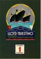 # OCEAN LINER Art Print Stampa Gravure Poster Druck Ship Atlantic Travel Vintage Italy Trieste - Maritieme Decoratie