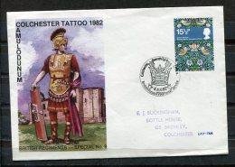 Greait Britain 1982 Cover Colchester Tattoo Camulodunum Special Cancel - 1952-.... (Elizabeth II)