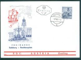 ÖSTERREICH - FDC Mi-Nr. 1114 Bauwerke Stempel SALZBURG (1) - FDC