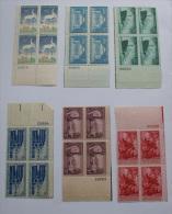 USA 1940S INTERESTIG LOT 6 BLOCKS MNH** - Etats-Unis