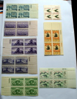 USA 1940S- 50S INTERESTING LOT 8 BLOCKS MNH** - Verenigde Staten
