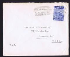 Lettre  De Bruxelles Pour Les USA  COB 771 - 1948 Export