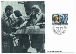 LIECHTENSTEIN - 40 Ans De Présidence De La Croix Rouge - Princesse Gina - 3 Cartes Maximum - 1985 - Familles Royales
