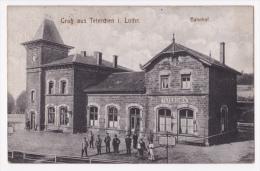 Gruss Aus Teterchen I. Lothr. - Bahnhof (belle Animation, Publicité Au Dos, Pour Café Carl Otto) Circulé Sans Date - Andere Gemeenten