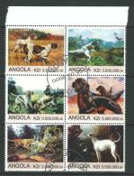 2000 Block Of 6 Dogs  Stamps Cancelled To Order Complete Mint Unhinged All Gum On Rear - Angola