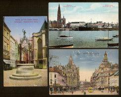 3 Postkaarten Van ANTWERPEN  Met HOUYOUX - Frankering (zie 2 Scans) ! Inzet Aan 10 € ! - 1912 Pellens