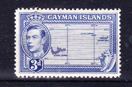 CAYMAN ISLANDS   1947 ,  Def´s Set - King G VI    , Y&T  #  119  -  3 D    Cv   3.50 E ,  ( 2006 ) * MH , VF - Cayman (Isole)