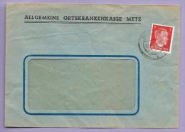 METZ 1944 -  Enveloppe Caisse Maladie - Allgemeine Ortskrankenkasse - Allemagne