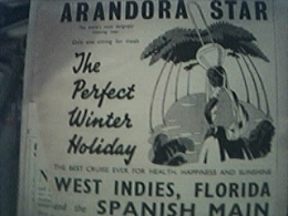 Newspaper Item 1938 - Blue Star Line Arandora Star Winter Holiday Advert - 1950-Hoy