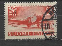 FINLAND 1938 - POST ANNIVERSARY 2 M - POSTAL AIRPLAN - USED OBLITERE GESTEMPELT USADO - Gebraucht