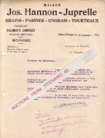 Lettre 1945 - VILLERS L´EVEQUE - Maison Jos. HANNON-JUPRELLE - Fabricant D'aliments Composés Pour Le Bétail - Grains ... - Sin Clasificación