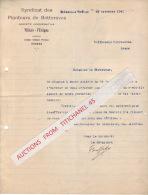Lettre 1941 - VILLERS L´EVEQUE - Syndicat Des Planteurs De Betteraves - Sin Clasificación