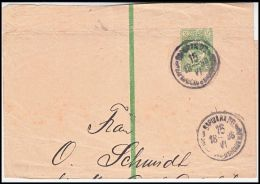 Russia 1896, Cover To Leipzig - 1857-1916 Empire