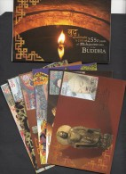INDIA, 2007,  6 MAX CARDS PACK Complete Set, BUDDHA,  2550 Years Of Mahaparinirvana Of The Buddha - India