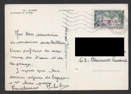 DF / FRANCE SUR CARTE POSTALE / TP 1483 REUNION DE LA LORRAINE ET DU BARROIS A LA FRANCE / OBL. 06 NICE RP  7 -9 1966 - Cartas