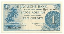 Netherlands Indies 1 Gulden 1948 VF/XF - Banconote