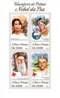 St13413a S.Tome Principe 2013 Nobel Peace Prize Peace S/s Red Cross Henri Dunant Albert Schweitzer - Albert Schweitzer