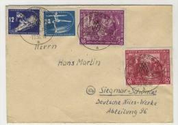 DDR Michel No. 246 - 247 + 248 - 249 gestempelt used auf Brief
