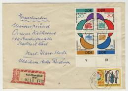 DDR Michel No. 901 - 904 + 906 Gestempelt Used Auf Brief - Storia Postale